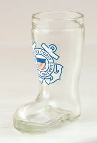 COAST GUARD MINI BOOT GLASS SHOT
