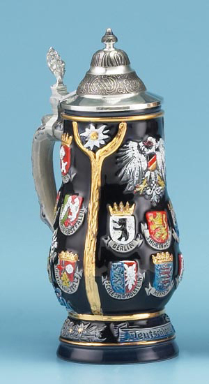 German Crest Stein Authentic Beer Steins From Germany