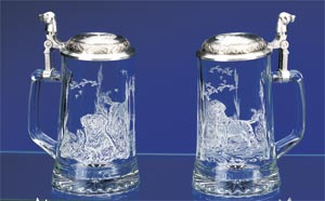 LINDA PICKEN LABRADOR GLASS STEIN