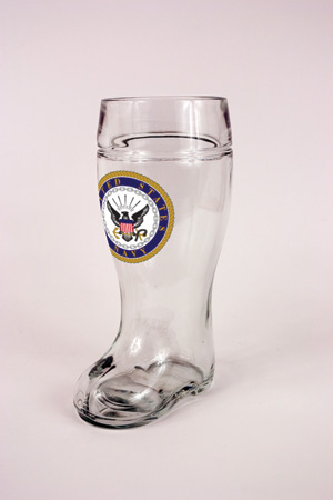 1.0 L GLASS NAVY BOOT