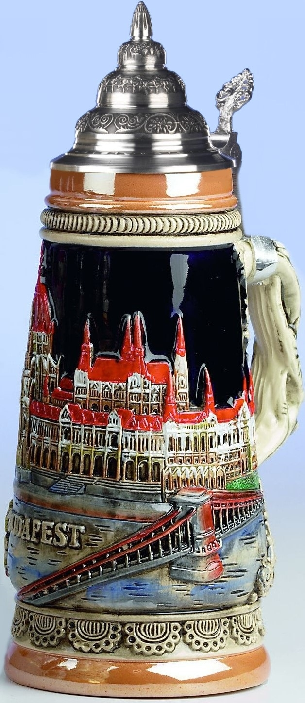Budapest Hungary Parliament Building LE Germany Beer Stein .25 L