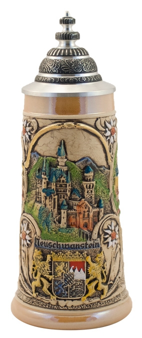 German made CASTLES OF KING LUDWIG BEER STEIN