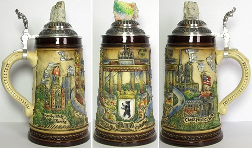 Limited Edition Berlin Wall Germany Beer Stein .5L
