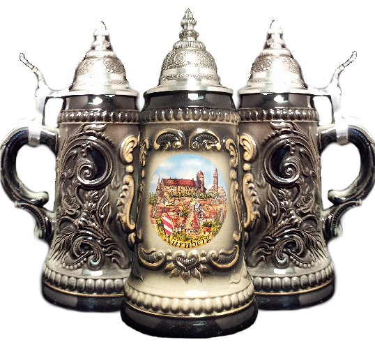 Nurnberg Black Shield German Beer Stein .25L