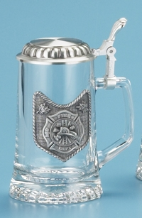 GLASS FIRE DEPARTMENT STEIN