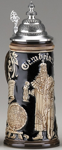 GAMBRINUS STEIN 0.75L, ANTIQUE FINISH