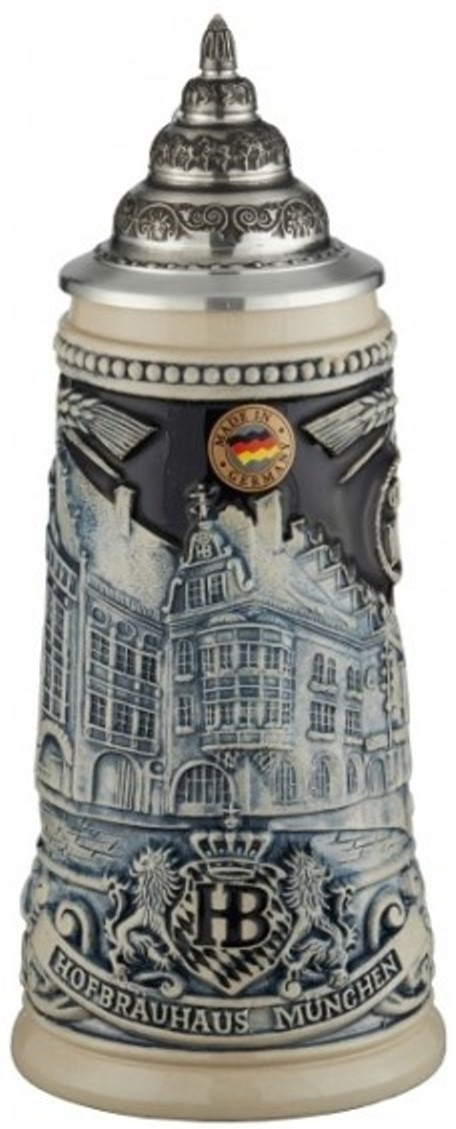 Hofbrauhaus Munchen Munich Building LE Blue Relief German Beer Stein .25 L