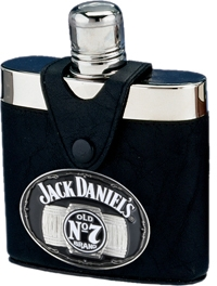 Jack Daniel's Leather Flask with Badge