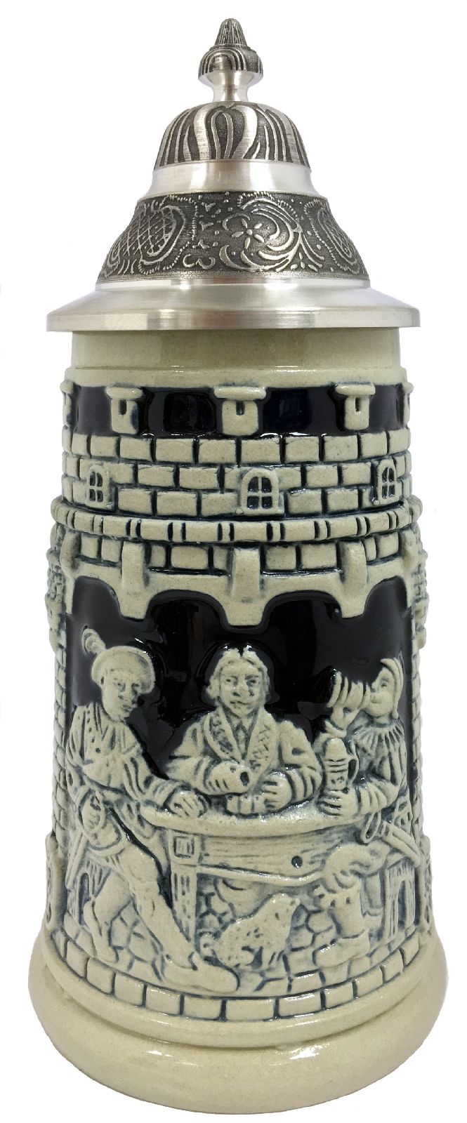 Life is a Gamble Men Drinking Grey Relief LE German Stoneware Beer Stein .25 L