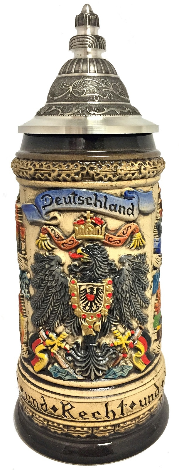 Rustic Deutschland Germany Eagle with Oak Leaves LE German Beer Stein .25 L