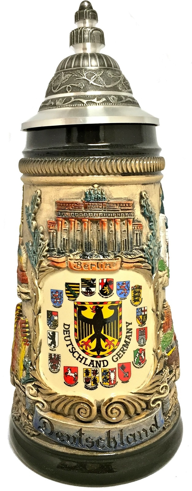 Rustic Deutschland Germany Shield Cities with Crests LE German Beer Stein .5 L