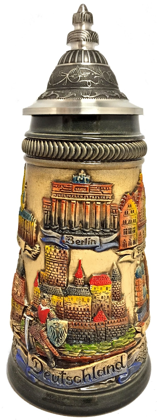 Rustic German Cities with Guard Panorama LE German Beer Stein .25 L