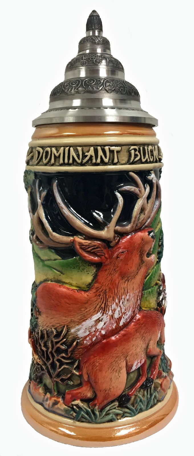 Dominant Buck Deer Relief LE German Stoneware Beer Stein .75 L Made in Germany