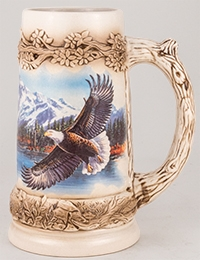 Meger Bald Eagle Stein Without Lid