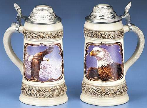 Meger Bald Eagle Stein