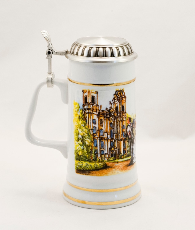 PORCELAIN WEDDING STEIN