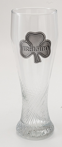 Pilsner Glass With Ireland Badge