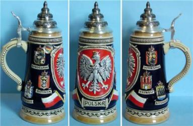 Polska Poland LE German Beer Stein .5L