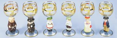 FIGURINE WINE GOBLET-SET OF 6