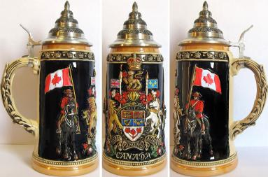 Canada Royal Coat of Arms LE German Beer Stein .75 L