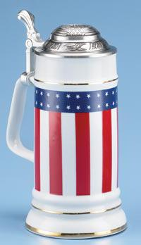 STARS & STRIPES PORCELAIN STEIN