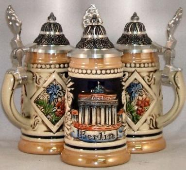 Berlin Germany Relief German MINI Beer Stein 1/16L