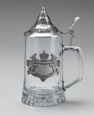 GLASS STEIN W/ BAVARIA CREST