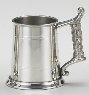PEWTER ROPE HANDLE TANKARD