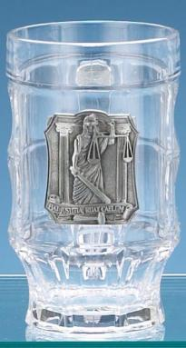 LAWYER GLASS FACET MUG