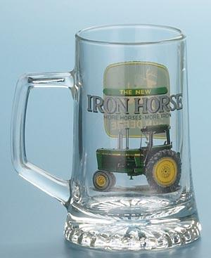 *JOHN DEERE IRON HORSE GLASS MUG