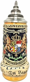 Bayern Bavaria Coat of Arms Relief LE German Beer Stein .5 L Made in Germany