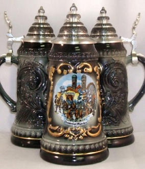 Black Oktoberfest German Beer Stein .125L