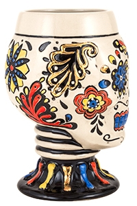 Day of the Dead Multi-Color Skull Goblet