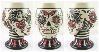 Day of the Dead Red Skull Goblet