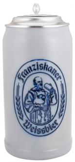 Franziskaner 1.0 L Salt Glazed with Lid