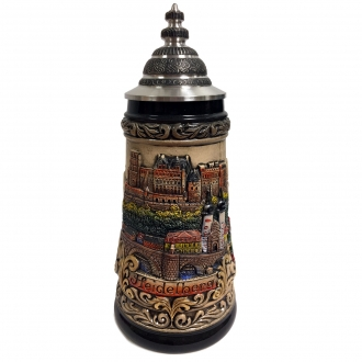 City of Heidelberg Panorama LE Stoneware German Beer Stein .5 L Made in Germany