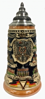 Deutschland Germany Eagle City Panorama LE German Stoneware Beer Stein .75 L