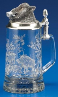 GLASS BOAR STEIN