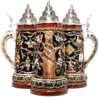 12 Days of Christmas LE German Beer Stein .75L