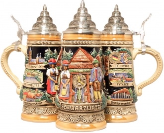 Black Forest Cuckoo Clock German Beer Stein .25L