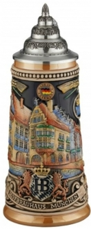Hofbrauhaus Munchen Munich Building LE Colorful Relief German Beer Stein .25 L