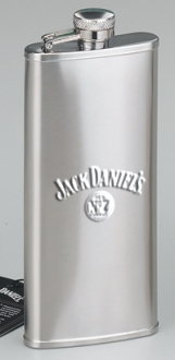 *JACK DANIEL'S 5 OZ SATIN BOOT FLASK
