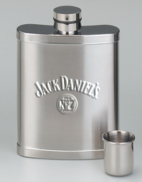 *JACK DANIEL'S 7 OZ SATIN HIP FLASK