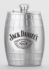 *JACK DANIEL'S BARREL FLASK