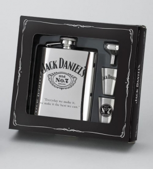 *JACK DANIEL'S FLASK/SHOTS/FUNNEL GIFT SET