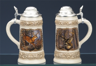 JAMES MEGER WHITE TAIL DEER II STEIN