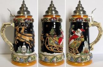 Limited Edition Christmas Reindeer German Beer Stein .75L