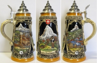 Limited Edition Matterhorn Switzerland German Beer Stein .5L