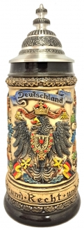 Rustic Deutschland Germany Eagle with Oak Leaves LE German Beer Stein .5 L