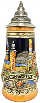 Stockholm Sweden Scandinavia Relief LE German Beer Stein .25 L Made in Germany